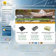 Março de 2010 – Primeira Loja Virtual da Minha Casa Solar