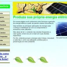 Janeiro 2010 – Primeiro Web Site da Minha Casa Solar.
