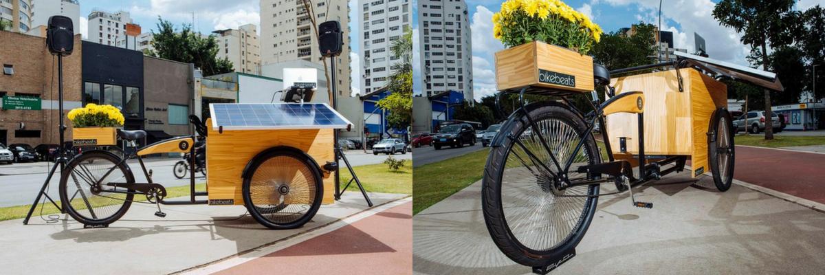 Conheça a Bikebeats, um sistema de som movido a energia solar