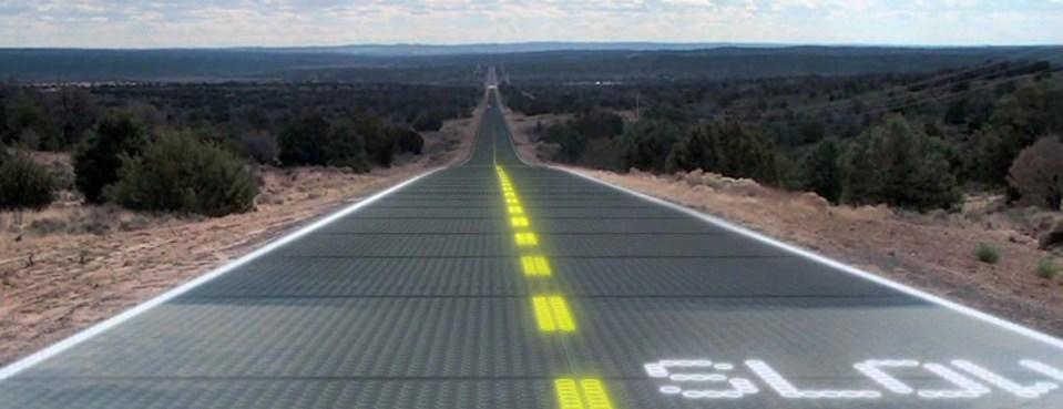 Estrada Solar Fictícia