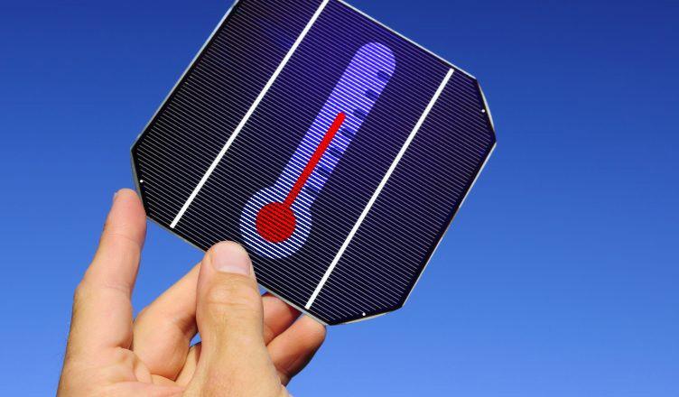 Ilustração sobre a temperatura de células fotovoltaicas.