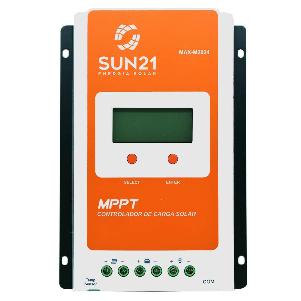 Controlador de Carga 20A 12V/24V MPPT SUN21