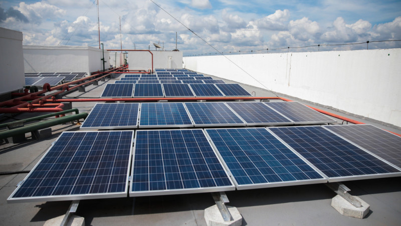 energia solar em prédios