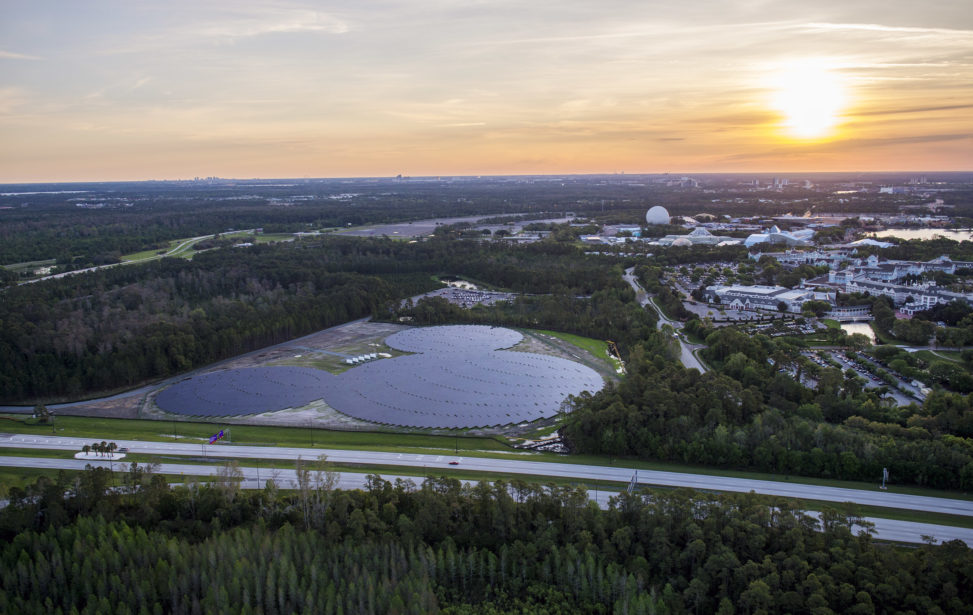 Energia solar da Disney tem painéis com formato especial
