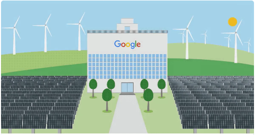 Usina Solar e Eolica da Google