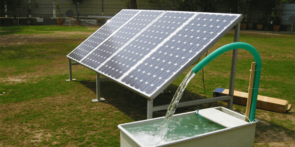 Bombeamento de água solar