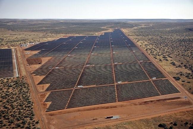 A maior usina solar do continente africano, localizada na África do Sul