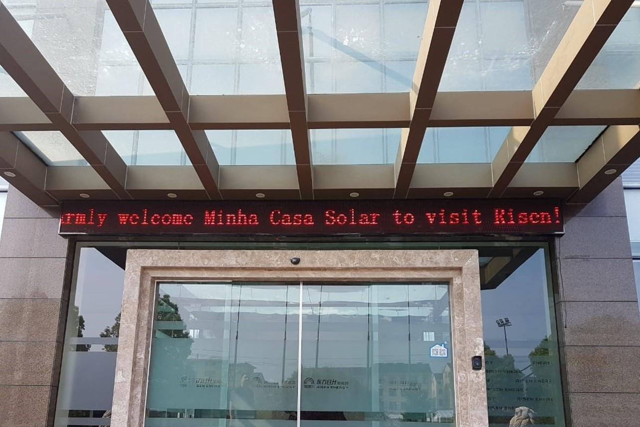 Visita à fábrica Risen Solar