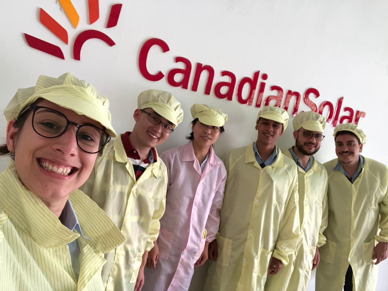 Visita da Minha Casa Solar, na fábrica da Canadian Solar.