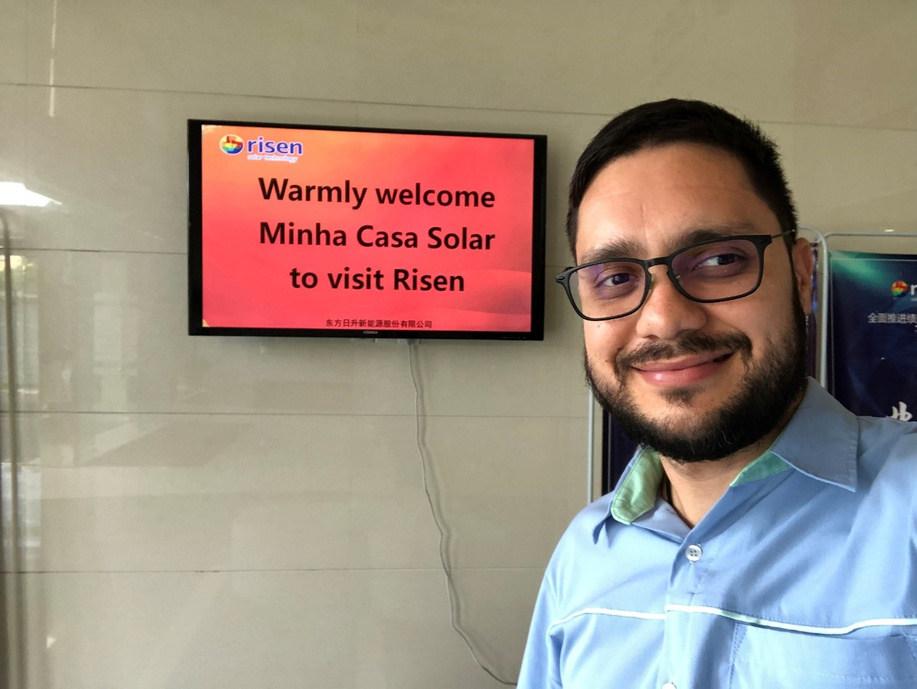 visita da Minha Casa Solar na Risen